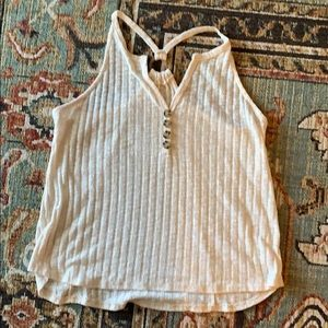 Maurices cream racer back tank